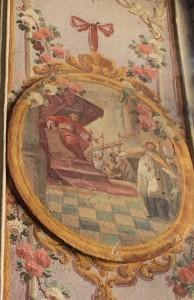 Scena sądu królewskiego nad św. Janem