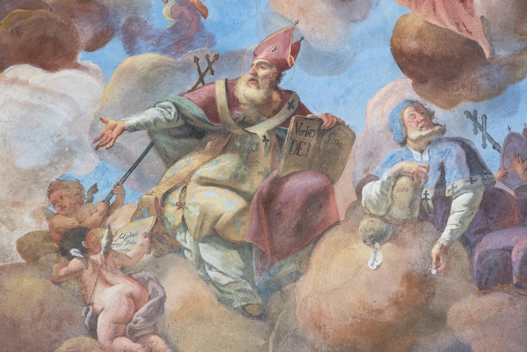 Jan Chryzostom - fragment fresku z Kaplicy Św. Jana Nepomucena